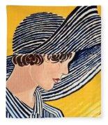 1920s Sun Hat Fleece Blanket