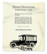 1921 - Dodge Brothers Business Car Truck Advertisement Fleece Blanket