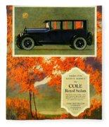1923 - Cole Royal Sedan - Advertisement - Color Fleece Blanket
