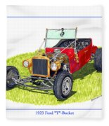 T Bucket Ford 1923 Fleece Blanket