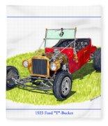 T Bucket Ford 1923 Fleece Blanket