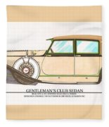 1923 Hispano Suiza Club Sedan By R.h.dietrich Fleece Blanket