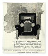 1924 - Buick Six Advertisement Fleece Blanket
