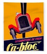 1924 - Ca-bloc Brakes French Advertisement Poster - Color Fleece Blanket