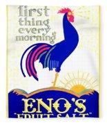 1924 - Eno's Fruit Salt Advertisement - Color Fleece Blanket