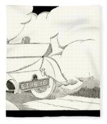 1924 - Georges Irat La Voiture D'elite French Automobile Advertisement Fleece Blanket