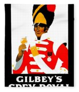 1924 - Gilbey Spey-royal Whisky Advertisement - Color Fleece Blanket