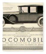 1924 - Locomobile Victoria Sedan Automobile Advertisement Fleece Blanket