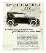 1924 - Oldsmobile Six Automobile Advertisement Fleece Blanket
