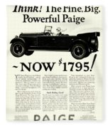 1924 - Paige Automobile Advertisement Fleece Blanket