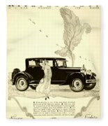 1924 - Rickenbacker Automobile Advertisement Fleece Blanket