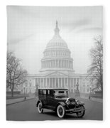 1924 Ford Lincoln At U. S. Capitol Fleece Blanket