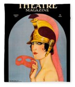 1924 - Theatre Magazine Cover - Color Fleece Blanket