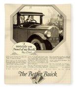 1925 - Buick Automobile Advertisement Fleece Blanket