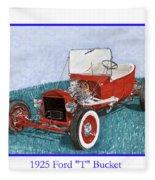 1925 Ford Hot Rod T-bucket Fleece Blanket