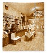 1925 Irish Shoe Store Fleece Blanket