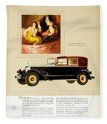 1926 - Packard Automobile Advertisement - Color Fleece Blanket