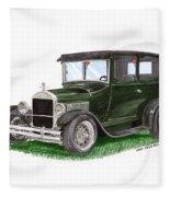 1926 Ford Tudor Sedan Street Rod Fleece Blanket