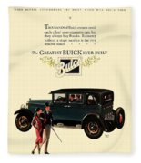 1927 - Buick Automobile - Color Fleece Blanket