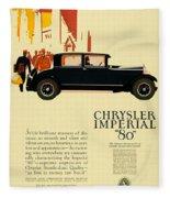 1927 - Chrysler Imperial Model 80 Automobile Advertisement - Color Fleece Blanket