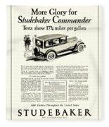 1927 - Studebaker Commander Automobile Advertisement Fleece Blanket