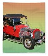 1927 Ford T Bucket Rag Top T Bucket Fleece Blanket