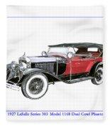 1927 La Salle Dual Cowl Phaeton Fleece Blanket