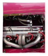 Antique Car Engine Fleece Blanket