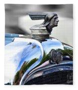 1928 Pontiac Hood Ornament And Badge Fleece Blanket