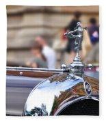 1928 Vintage Chrysler 72 Series - Hood Ornament Fleece Blanket