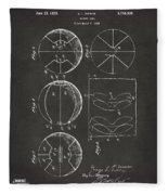 1929 Basketball Patent Artwork - Gray Fleece Blanket