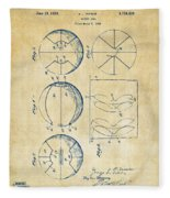 1929 Basketball Patent Artwork - Vintage Fleece Blanket