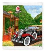 1929 Cadillac Dual Cowl Phaeton And Pegasus Fleece Blanket