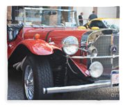 1929 Mercedes Benz Front And Side View Fleece Blanket