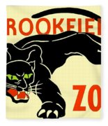 1930 - Brookfield Zoo Poster - Boston - Color Fleece Blanket