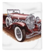 1930 Dusenberg Model J Fleece Blanket
