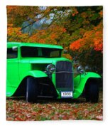 1930 Ford Sedan Delivery Truck  Fleece Blanket