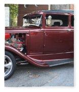 1930 Ford Two Door Sedan Side View Fleece Blanket
