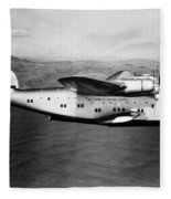 1930s 1940s Pan American Clipper Flying Fleece Blanket by Vintage Images