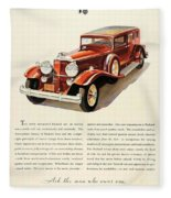 1931 - Packard - Advertisement - Color Fleece Blanket