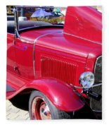 1931 Ford With Rumble Seat Fleece Blanket