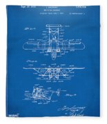 1932 Amphibian Aircraft Patent Blueprint Fleece Blanket