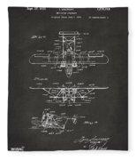 1932 Amphibian Aircraft Patent Gray Fleece Blanket