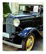 1932 Ford Cabriolet Fleece Blanket