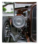 1932 Ford Roadster Head Lamp View Fleece Blanket