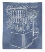 1932 Machine Patent Fleece Blanket