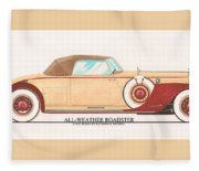 1932 Packard All Weather Roadster By Dietrich Concept Fleece Blanket
