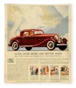 1933 - Buick Coupe Advertisement - Color Fleece Blanket