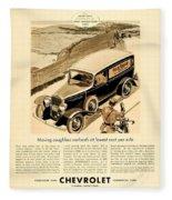 1933 - Chevrolet Commercial Automobile Advertisement - Old Gold Cigarettes - Color Fleece Blanket