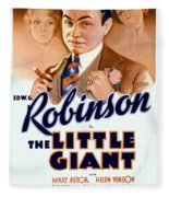 1933 - The Little Giant - Warner Brothers Movie Poster - Edward G Robinson - Color Fleece Blanket
